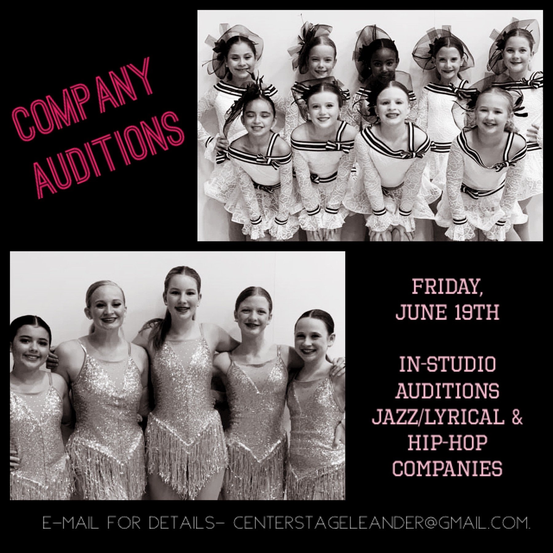 Co Auditions 2020 pink